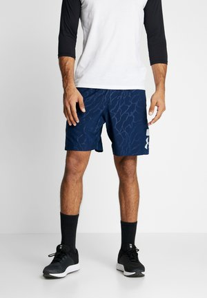 GRAPHIC EMBOSS SHORTS - Sports shorts - academy/mod gray