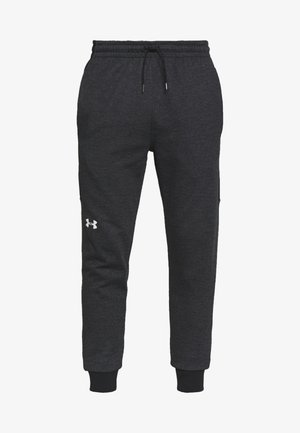 DOUBLE - Tracksuit bottoms - black/onyx white