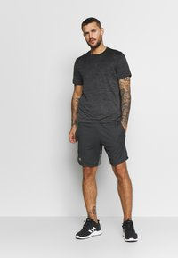 Under Armour - KNIT TRAINING SHORTS - Korte sportsbukser - black/mod gray