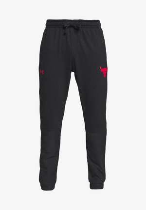 PROJECT ROCK - Pantaloni sportivi - black full heather/versa red