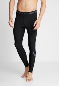 Under Armour - PROJECT ROCK - Leggings - black/pitch gray - 3