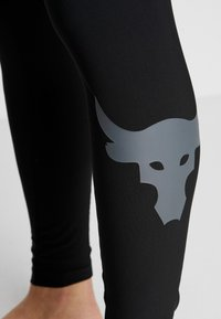 Under Armour - PROJECT ROCK - Leggings - black/pitch gray - 5
