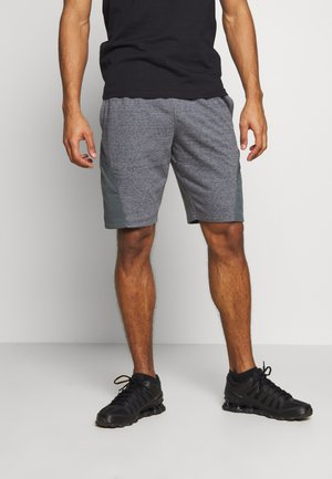 PROJECT ROCK SHORT - Krótkie spodenki sportowe - pitch gray full heather/black