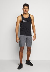 Under Armour - PROJECT ROCK SHORT - Sports shorts - pitch gray full heather/black - 1