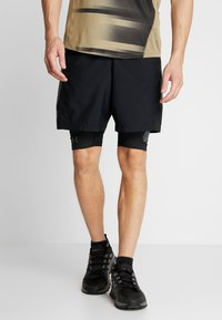 Under Armour - PROJECT ROCK SHORTS - Leggings - black/pitch gray - 0