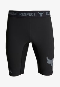 Under Armour - PROJECT ROCK SHORTS - Leggings - black/pitch gray - 5