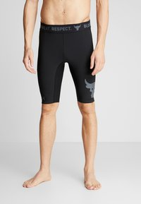 Under Armour - PROJECT ROCK SHORTS - Leggings - black/pitch gray - 3