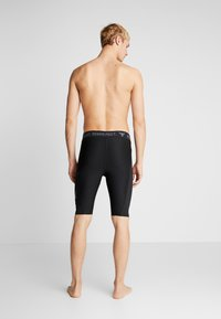 Under Armour - PROJECT ROCK SHORTS - Leggings - black/pitch gray - 4