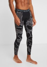 Under Armour - HG ARMOUR 2.0 PRINTED LEGGINGS - Tights - black/halo gray - 3