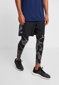 Under Armour - HG ARMOUR 2.0 PRINTED LEGGINGS - Tights - black/halo gray - 0