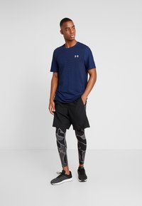 Under Armour - HG ARMOUR 2.0 PRINTED LEGGINGS - Tights - black/halo gray - 1