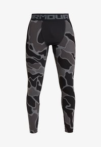 Under Armour - HG ARMOUR 2.0 PRINTED LEGGINGS - Tights - black/halo gray - 5