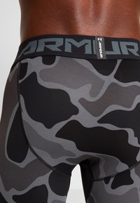Under Armour - HG ARMOUR 2.0 PRINTED LEGGINGS - Tights - black/halo gray - 6