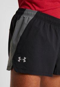 Under Armour - LAUNCH SPLIT SHORT - Pantalón corto de deporte - black/pitch gray - 5
