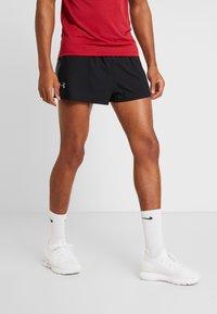 Under Armour - LAUNCH SPLIT SHORT - Pantalón corto de deporte - black/pitch gray - 0