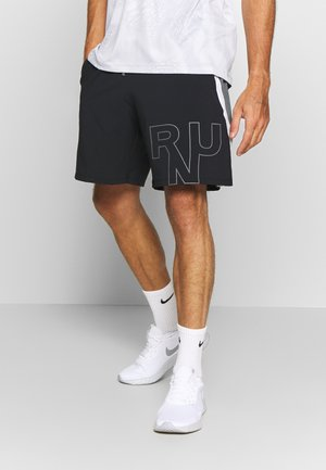 M UA LAUNCH SW 7'' GRAPHIC SHORT - Pantalón corto de deporte - black/pitch gray/reflective