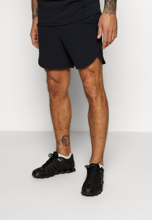 STRETCH SHORTS - Korte sportsbukser - black/metallic solder