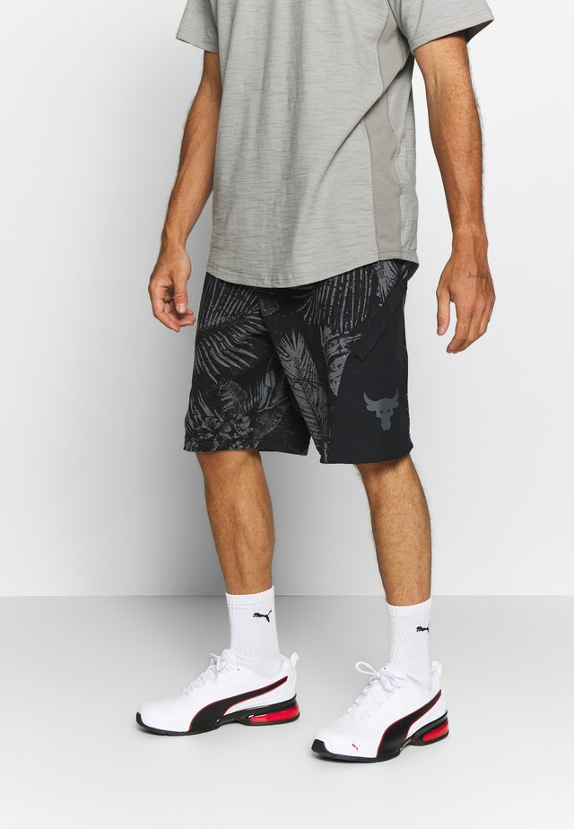 PROJECT ROCK TERRY PRINTED SHORT - Pantaloncini sportivi - black/pitch gray