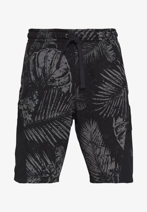 PROJECT ROCK TERRY PRINTED SHORT - Pantalón corto de deporte - black/pitch gray