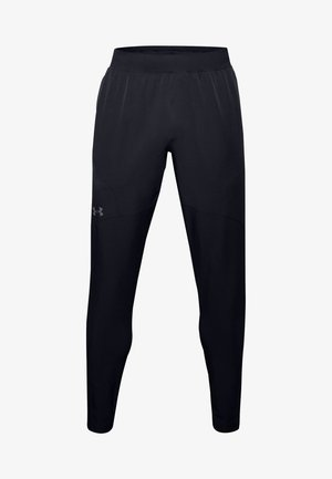 UA FLEX WOVEN TAPERED PANTS - Trainingsbroek - black