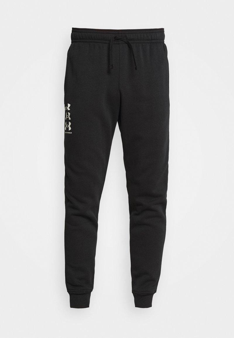 Under Armour - RIVAL MULTILOGO - Spodnie treningowe - black/onyx white