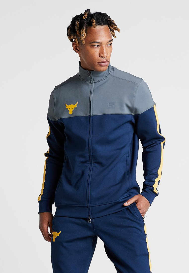 Under Armour - PROJECT ROCK TRACK JACKET - Training jacket - academy/pitch gray
