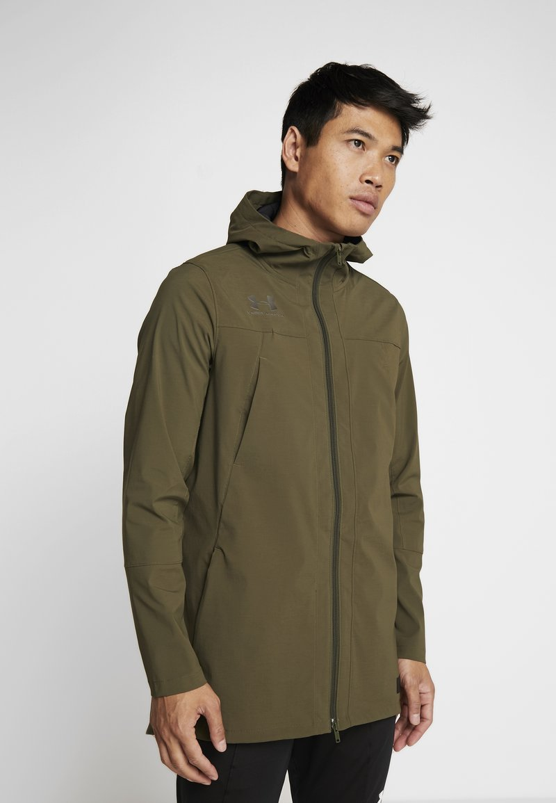 Under Armour - ACCELERATE TERRACE JACKET - Trainingsvest - guardian green/black
