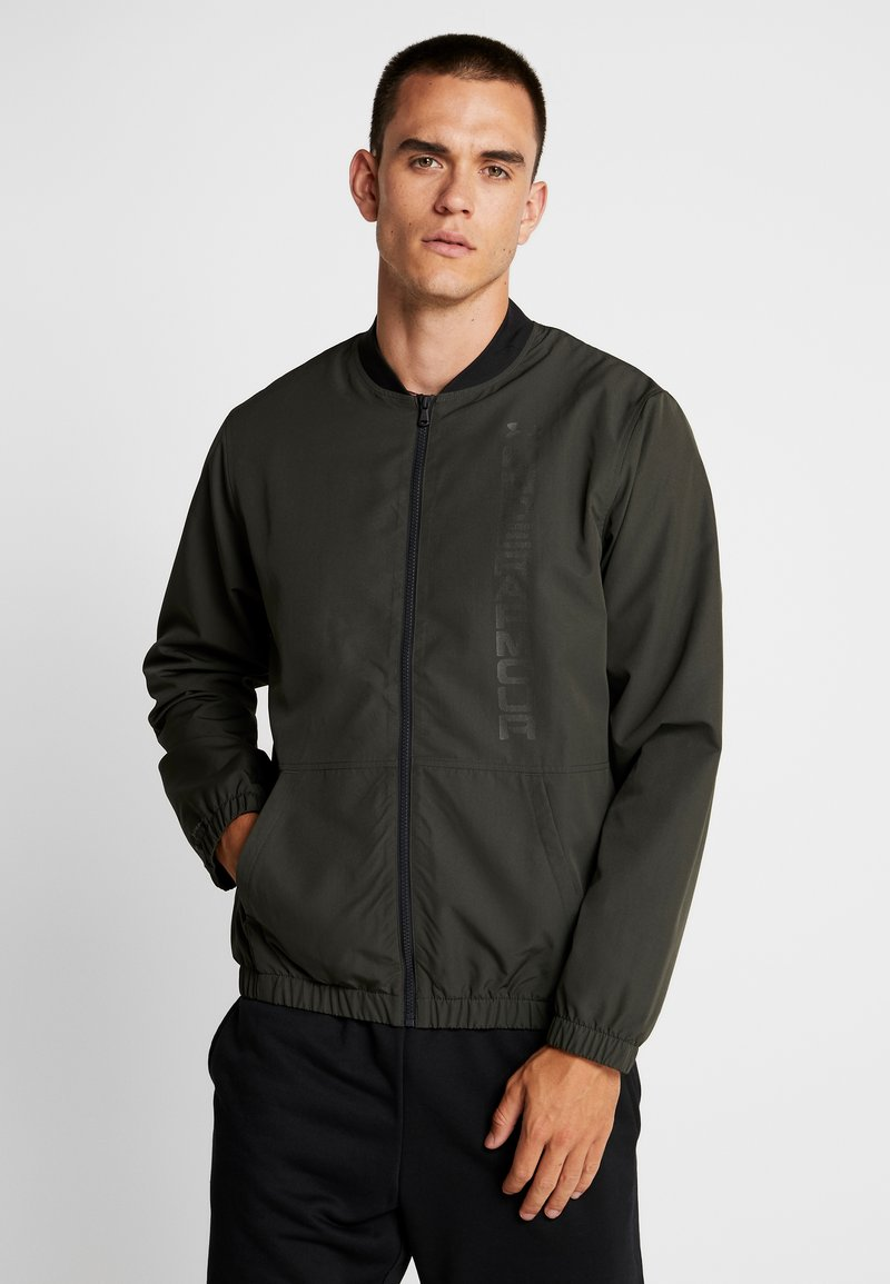 Under Armour - UNSTOPPABLE ESSENTIAL BOMBER - Giacca sportiva - baroque green/baroque green