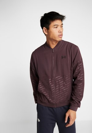 UNSTOPPABLE EMBOSS BOMBER - Giacca sportiva - kinetic purple/ black