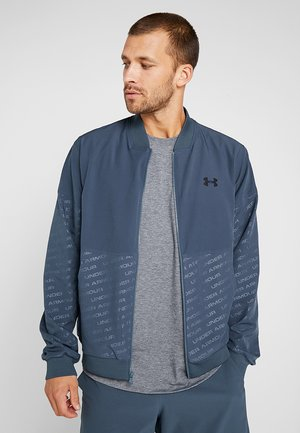 UNSTOPPABLE EMBOSS BOMBER - Training jacket - wire/black