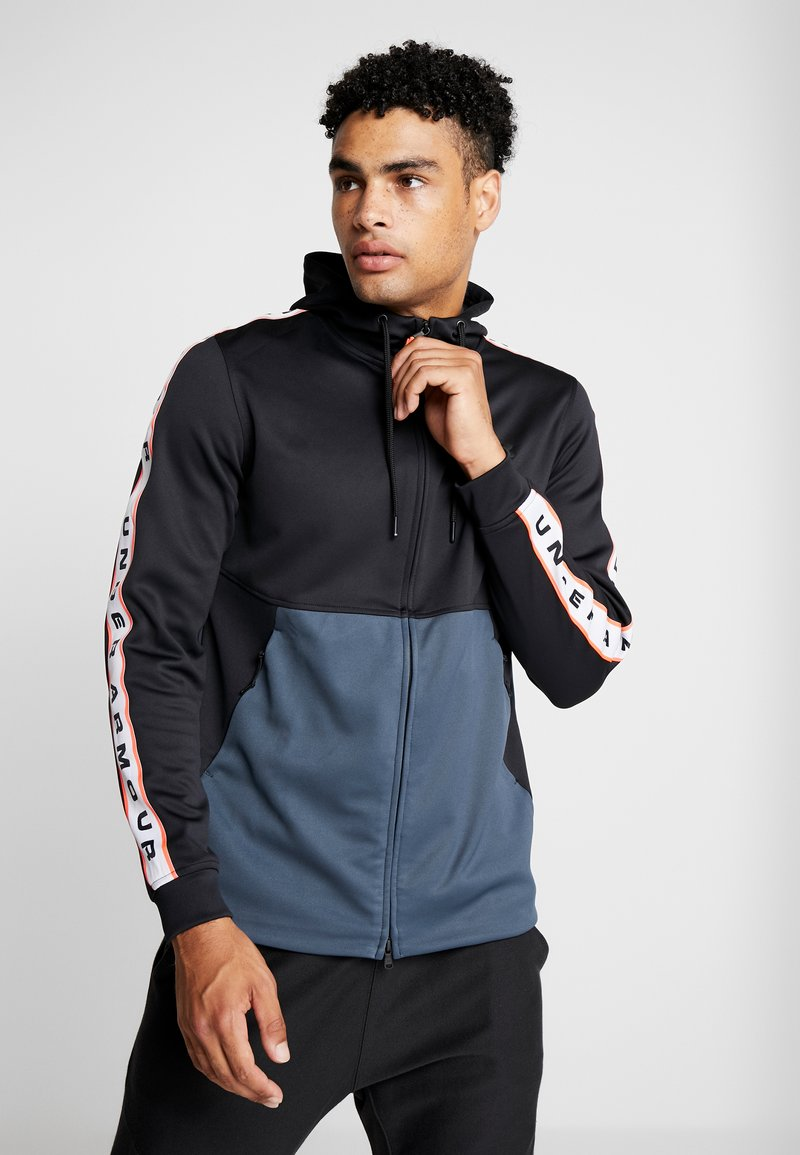 Under Armour - UNSTOPPABLE TRACK JACKET - Träningsjacka - black/wire