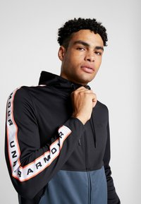 Under Armour - UNSTOPPABLE TRACK JACKET - Treningsjakke - black/wire - 3