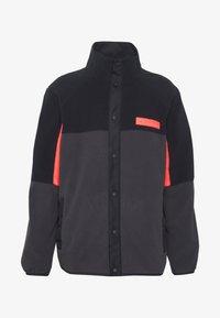 Under Armour - REVERSIBLE SNAP JACKET - Fleece jacket - jet grey/black - 7