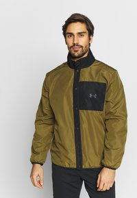 Under Armour - REVERSIBLE SNAP JACKET - Fleece jacket - jet grey/black - 3