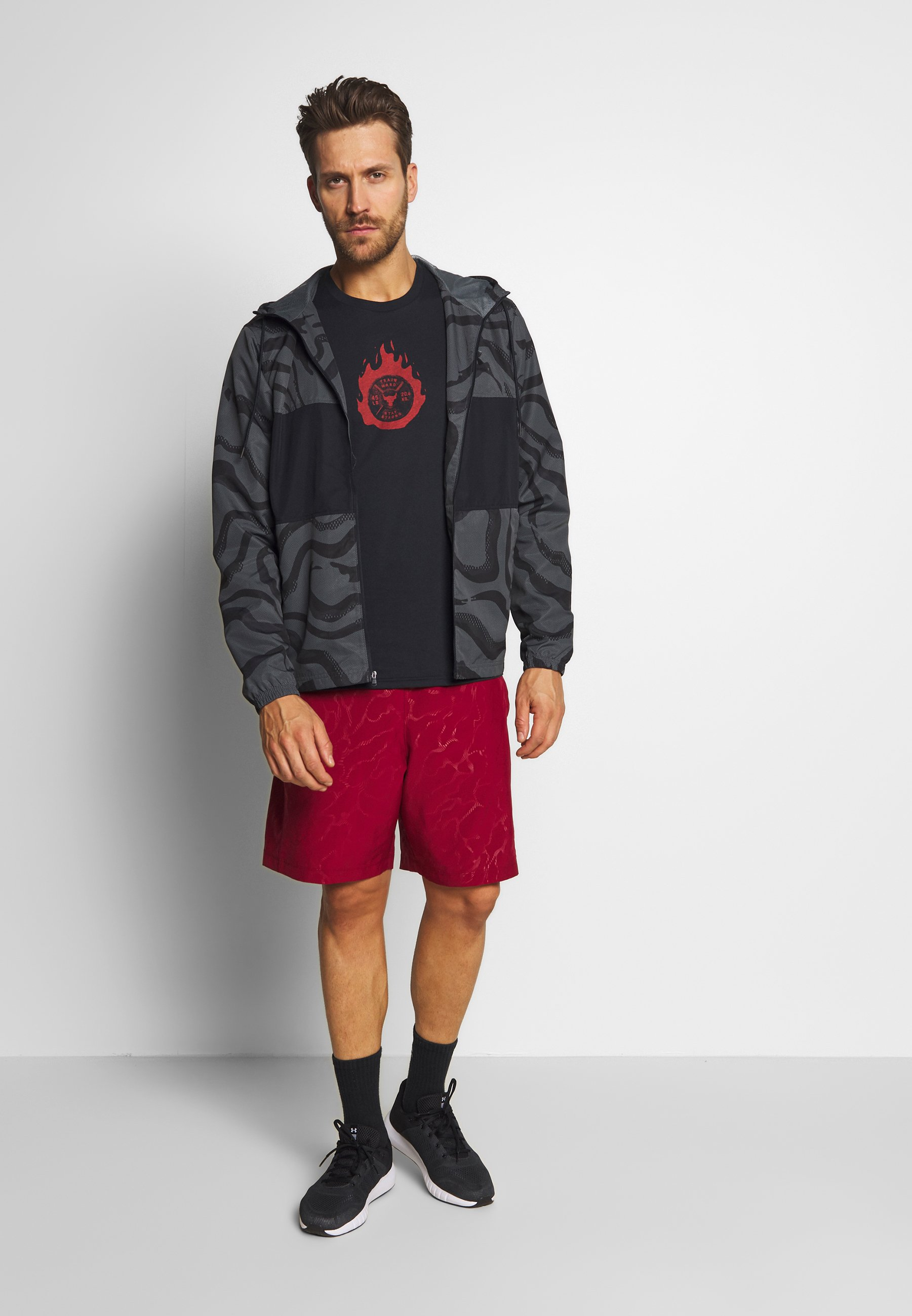Under Armour Sportstyle Wind Printed Hooded Jacket - Trainingsvest Pitch Grey/black