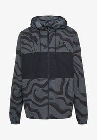 Under Armour - SPORTSTYLE WIND PRINTED HOODED JACKET - Trainingsvest - pitch grey/black - 5