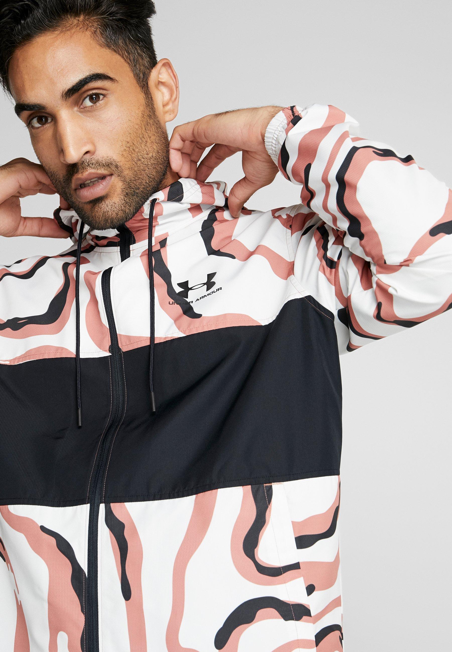 Under Armour Sportstyle Wind Printed Hooded Jacket - Veste De Survêtement Cedar Brown/black