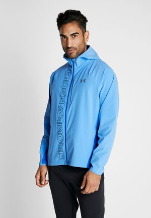 QUALIFIER OUTRUN THE STORM JACKET - Löparjacka - water/versa blue/reflective