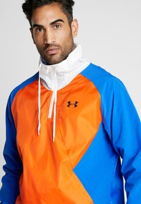 Under Armour - ZIP JACKET - Training jacket - versa blue/ultra orange/onyx white - 4