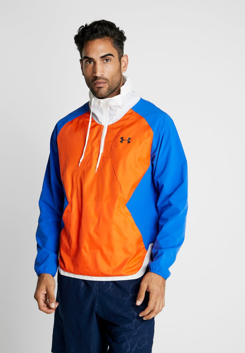 Under Armour - ZIP JACKET - Training jacket - versa blue/ultra orange/onyx white