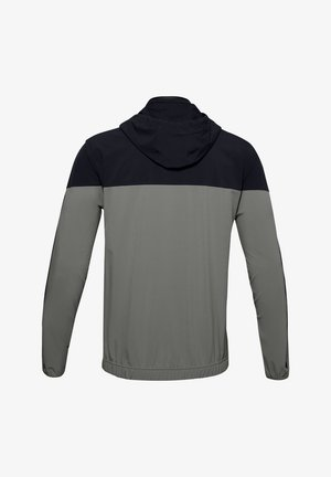 ATHLETE RECOVERY WOVEN WARM UP TOP - Training jacket - gravity green / black / metallic silver
