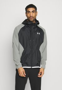 Under Armour - HOODED JACKET - Trainingsjacke - gravity green / black / onyx white - 0