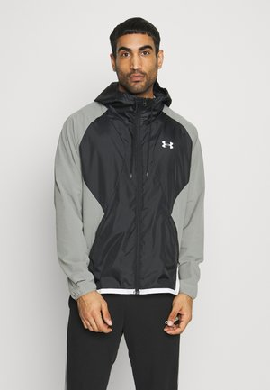 HOODED JACKET - Trainingsvest - gravity green / black / onyx white