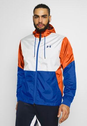 FIELD HOUSE JACKET - Regenjas - onyx white/american blue