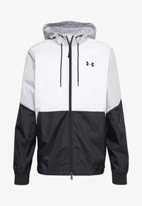 Under Armour - FIELD HOUSE JACKET - Waterproof jacket - white/black - 4