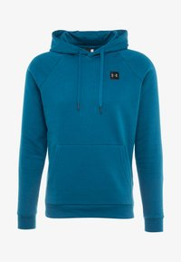 Under Armour - RIVAL HOODY - Mikina s kapucí - teal vibe/black - 3