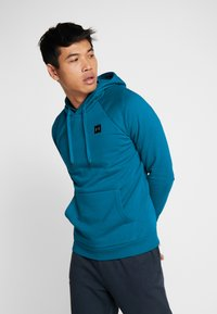 Under Armour - RIVAL HOODY - Mikina s kapucí - teal vibe/black - 0