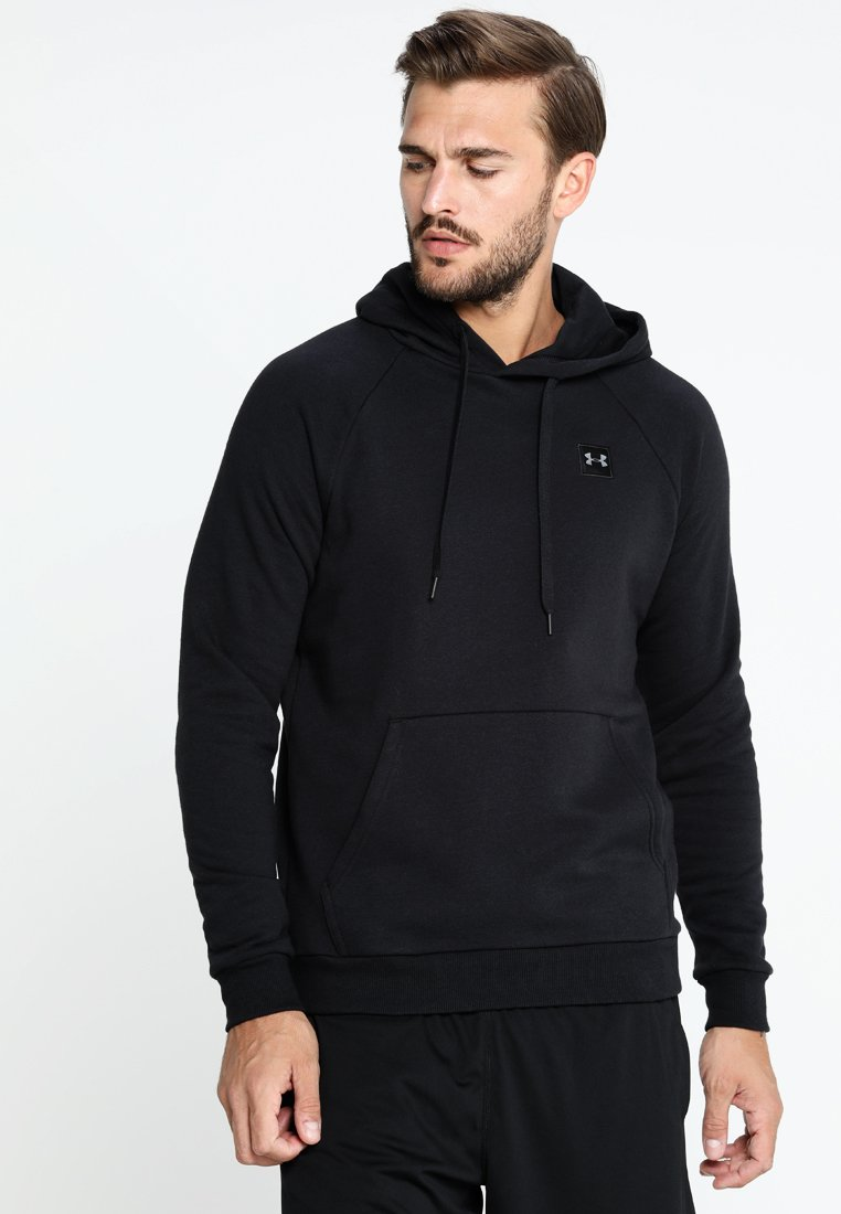Under Armour - RIVAL HOODY - Hoodie - black/black