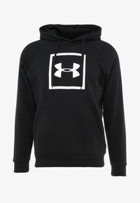 Under Armour - RIVAL LOGO HOODY - Hoodie - black/white - 3