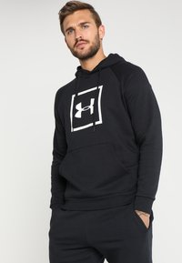 Under Armour - RIVAL LOGO HOODY - Hoodie - black/white - 0
